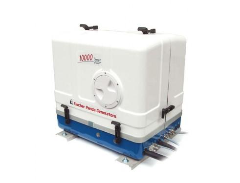 01.01.01.136P Generador Diésel Panda de 8Kwa, acabado en fibra, vista del generador cerrado en perspectiva