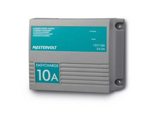 43321000 Cargador de baterías EasyCharge 10A-2 salidas. Pueden cargar baterías de terminal húmedo, AGM y Gel, con una entrada universal para 120-230V que posibilita el uso del sistema en cualquier lugar del mundo