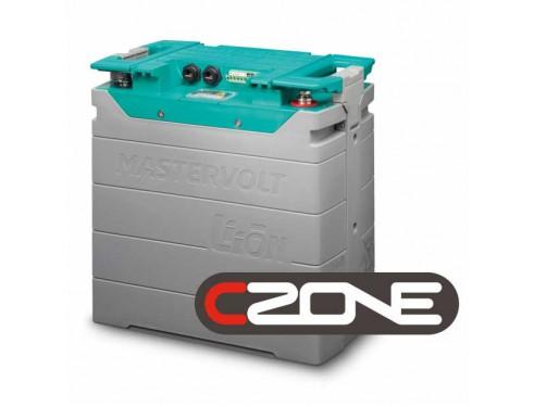 66012750 Batería de Ión-Litio, 12V/200Ah - 2,75kWh. Sus principales características son, la ligereza de sus componentes, su elevada capacidad energética y resistencia a la descarga, junto con el poco efecto memoria que sufren. Vista en perspectiva lateral