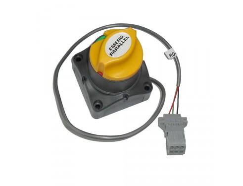 80-701-0018-00 Paralelo de emergencia 701-MDVS con sensor de voltaje. Permite la carga de dos bancos de baterías como si se tratara de uno solo