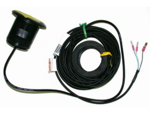 E26009 Transductor P7. Fabricado en plástico, de instalación pasacascos, muestra datos de profundidad