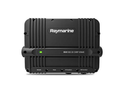 """E70511 Módulo de sonda CHIRP RVX1000 3D. Ofrece todas las funciones de sonda de los displays Axiom Pro de Raymarine en un dispositivo remoto tipo """"caja negra"""". Con las tecnologías de sonda RealVision 3D, CHIRP SideVision y DownVision"""