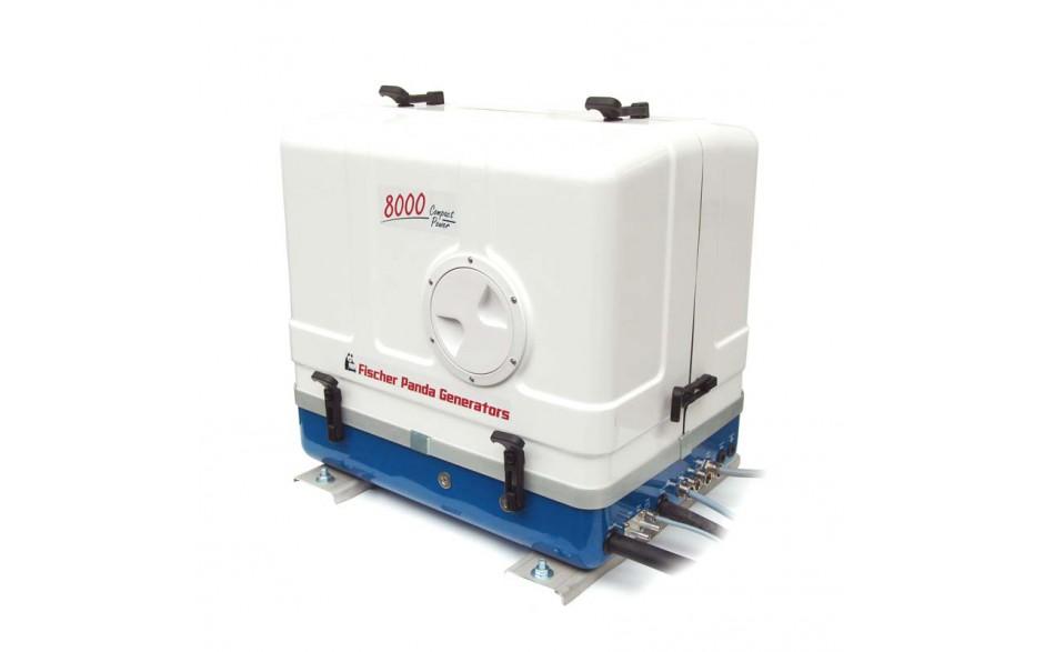 01.01.01.150P Generador Diésel Panda 8000 PMS. Los generadores marinos asíncronos diésel de Fischer Panda, refrigerados por agua dulce, son más pequeños, ligeros, silenciosos y eficientes que los generadores sincrónicos convencionales.