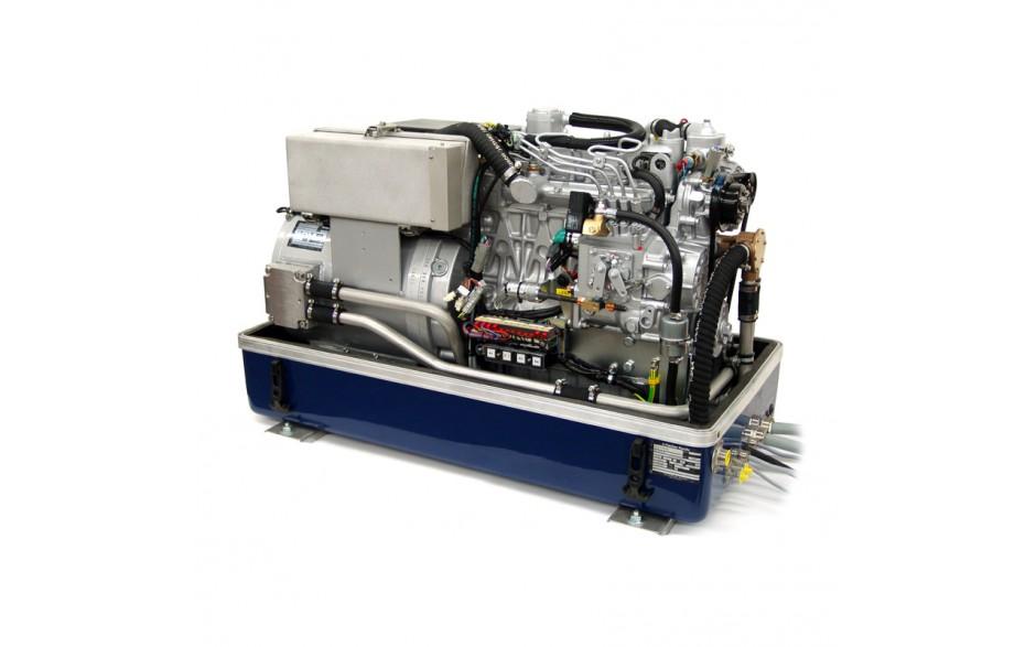 0 014 868 Generador Diésel Panda de 25Kwa, acabado en fibra, vista del generador abierto en perspectiva