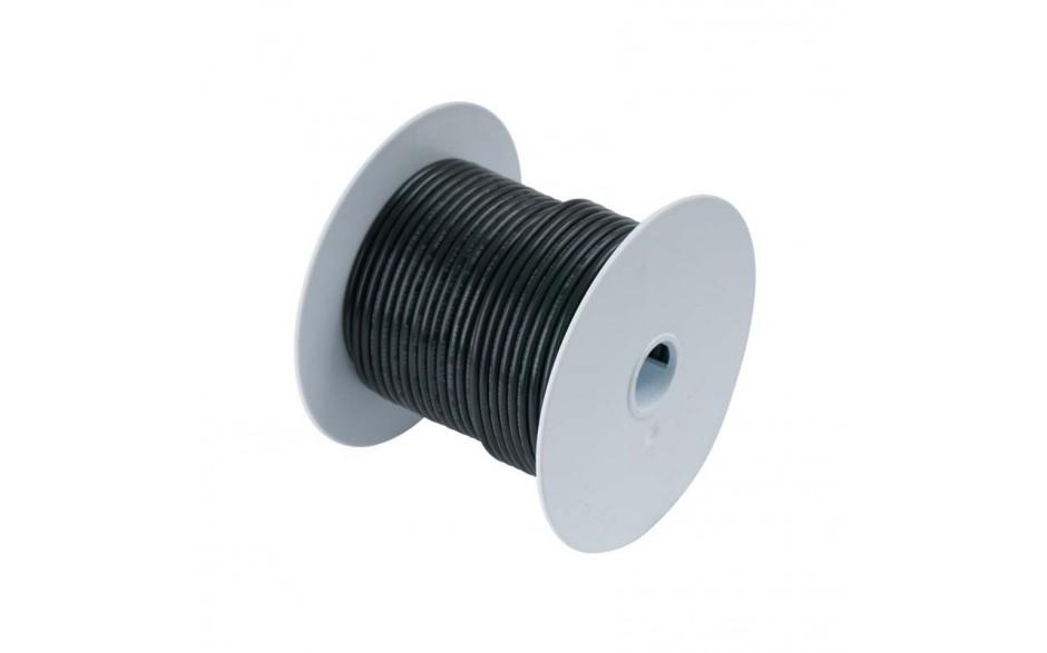 Cable estañado 5 mm2, 75 metros, negro