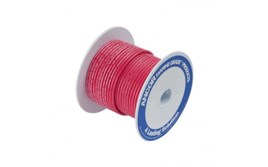 Cable estañado 0.8 mm2, 10.5 metros, rojo