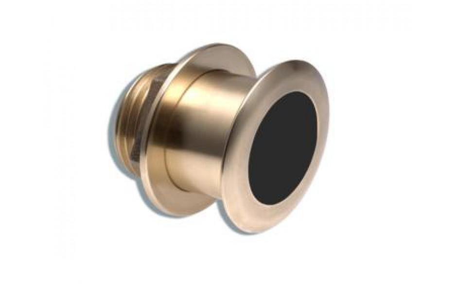 A102113 Transductor B164-20, fabricado en bronce, de instalación pasacascos, muestra datos de profundidad y temperatura.