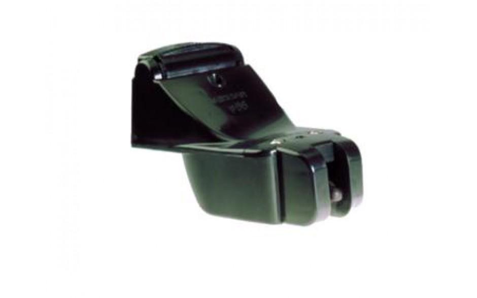 E26028-PZ Triducer P66.  Transductor fabricado en plástico, de montaje en popa, muestra datos de profundidad, velocidad y temperatura.