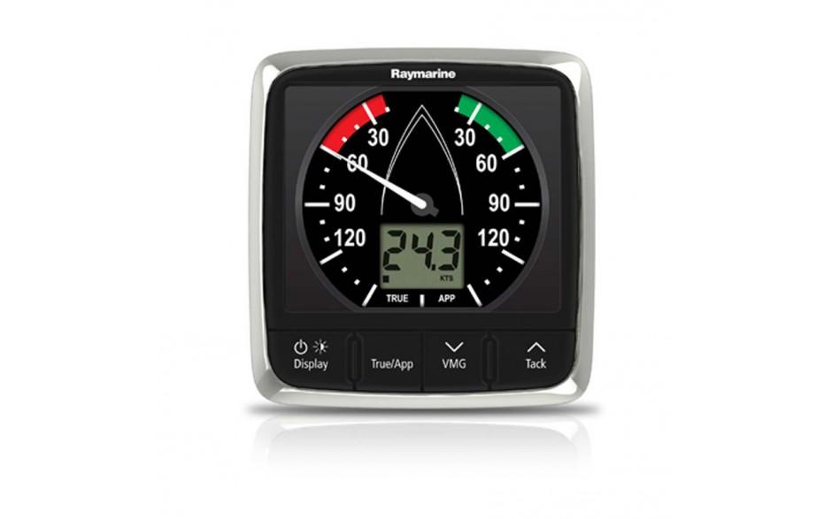 E70061 i60 - Display de viento analógico. Combina los datos digitales y analógicos. Calcula el viento aparente (relativo), la velocidad real y el ángulo (el viento real requiere la velocidad de SeaTalk con datos del agua)