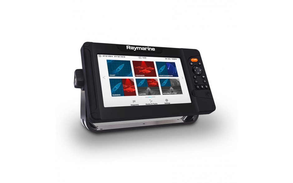E70534 Element 9 HV - Diseñado para los pescadores que desean estar siempre un paso por delante, Element ofrece la visión más nítida del mundo submarino con la tecnología de sonar de súper alta resolución HyperVision . Vista perspectiva lateral izquierda