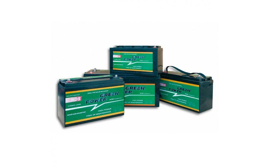 GP80 Batería AGM Green Power, 12V 80A. Batería de alto rendimiento y bajo nivel de auto-descarga, diseñada para una vida útil de más de 1200 ciclos.