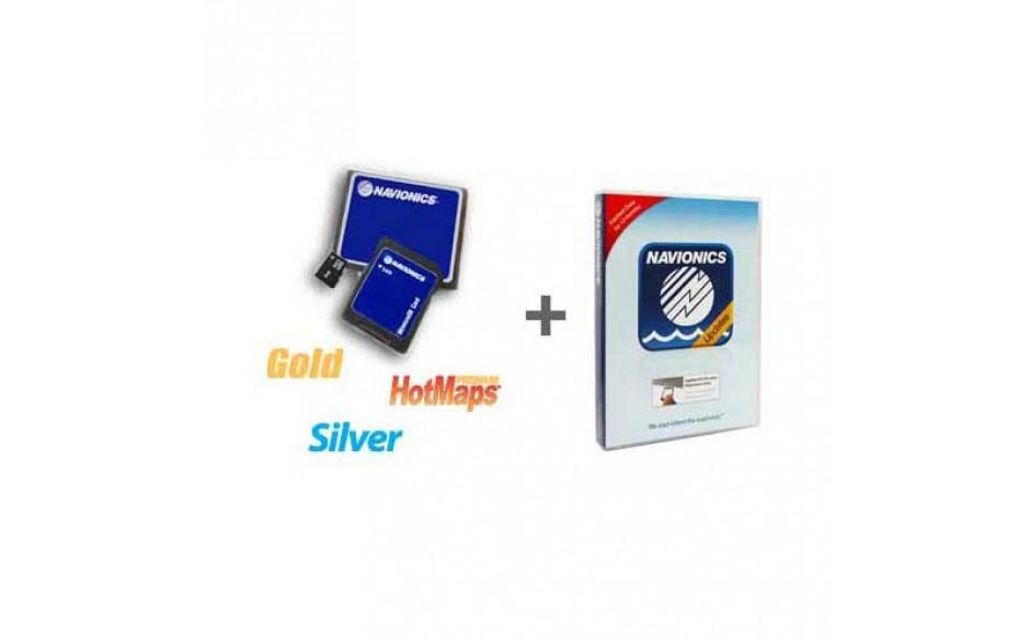 MSD/NAVIONICS UPDATE Actualización para tarjetas microSD. Adquiera una tarjeta Navionics Update y actívela junto con su antigua carta para obtener actualizaciones e incluso ampliar la zona de cobertura
