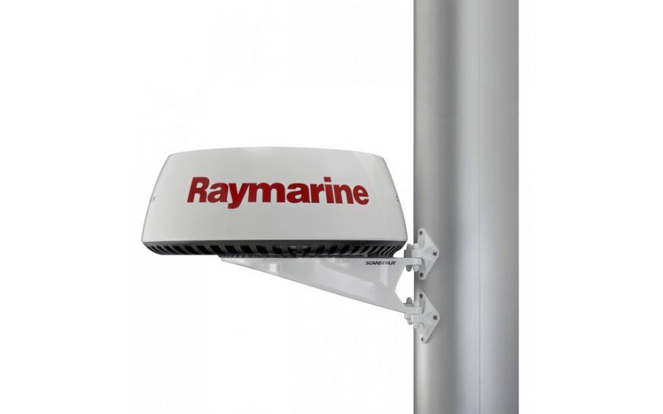 """SC20 Soporte mástil para radome 18"""". Diseñado para el montaje de antenas de radar cerradas de 2kW y 4kW o una antena TV vía satélite 37STV de Raymarine en el mástil de la embarcación. Sus 12 puntos de fijación garantizan una sujeción total. Fabricado en a"""