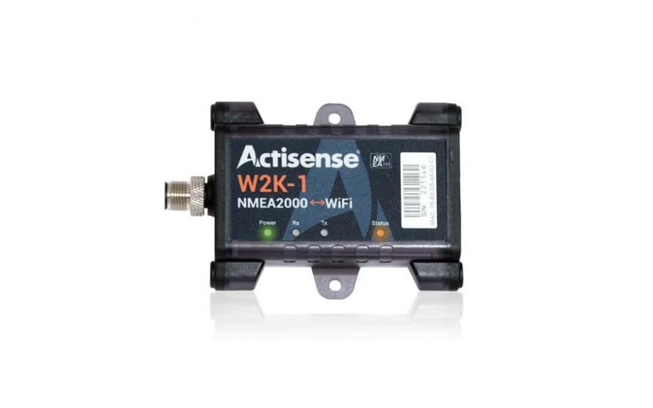 W2K-1 Transmisor de NMEA2000 a dispositivos wifi. Transfiere datos desde una red NMEA 2000 a cualquier dispositivo (por ejemplo, una computadora portátil, tableta o teléfono inteligente) conectado a él a través de Wi-Fi.
