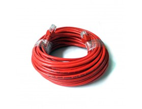 Cableado de comunicaciones RJ45 CAT-5E, 15 metros, rojo