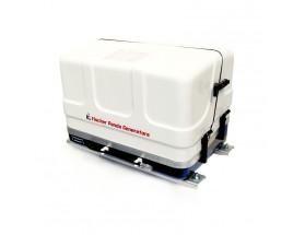 03.01.01.028P Generador diésel de 6Kw, vista en perspectiva del generador con la tapa de fibra cerrada
