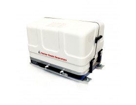 03.01.01.106P Generador diésel de 9,1Kw, vista en perspectiva del generador con la tapa de fibra cerrada