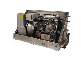 0 005 467 Generador Diésel Panda de 20,1 Kwa, acabado en metal, vista del generador abierto en perspectiva