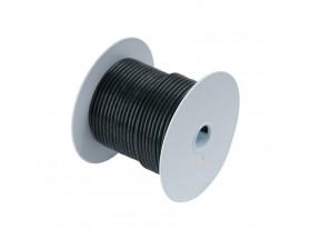 Cable estañado 1 mm2, 300 metros, negro
