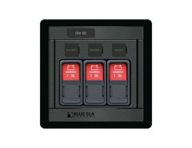 1148-BSS Panel para 3 interruptores deslizantes