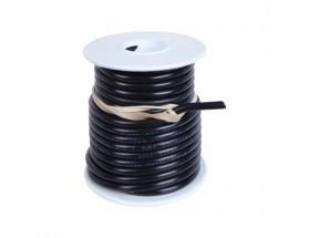 Cable estañado 1 mm2, 7.5 metros, negro