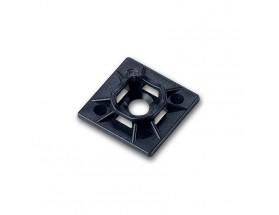 Base de montaje para cables, resistente a UV, 25 unidades