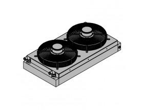 20.02.02.002P RV 3.3 - S350, radiador de montaje lateral inferior. Radiador de dos ventiladores para generadores diésel, puede instalarse en el lateral o en la parte inferior