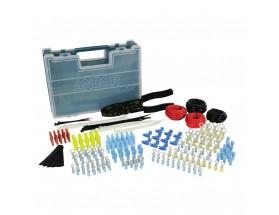 Kit de reparación eléctrica con tenaza crimpadora/peladora