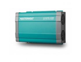28012500 Convertidor de corriente continua a corriente alterna AC Master 12/2500, vista en perspectiva lateral de la parte frontal y lateral derecha donde están alojados los ventiladores