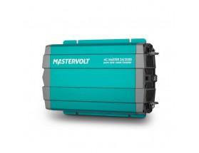 28022000 Convertidor de corriente continua a corriente alterna AC Master 24/2000, vista en perspectiva lateral de la parte frontal