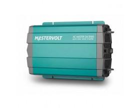 28522000 Convertidor de corriente continua a corriente alterna AC Master 24/2000, vista en perspectiva lateral de la parte frontal