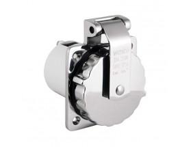 Enchufe acero inox - 16 Amp/230V, 50Hz