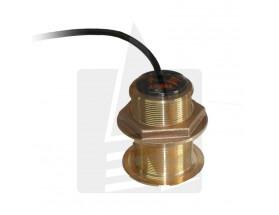 31-580-1-01 Transductor de profundidad B60, fabricado en bronce, instalación pasacascos, vista frontal