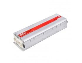 3740122500M Inversor 12V/230V, 2500W, onda sinusoidal modificada, soft-start.  Analiza las cargas que existen en la salida del equipo para suministrar gradualmente la tensión requerida, evitando así el suministro de una potencia innecesaria