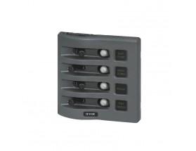 4374-BSS - Panel de interruptores WeatherDeck 12VCC, 4 posiciones, gris, estanco
