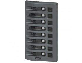 4378-BSS - Panel de interruptores WeatherDeck 12VCC, 8 posiciones, gris