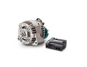46614120 Alternador de 12V Alpha Compact 14/120, con regulador. Los alternadores Alpha Compact ofrecen una elevada potencia de salida continua en aplicaciones de almacenamiento de energía. Junto al regulador Alpha Pro, crean una solución de carga de alto