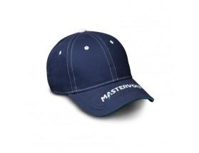 Gorra de color azul con el logo de Mastervolt