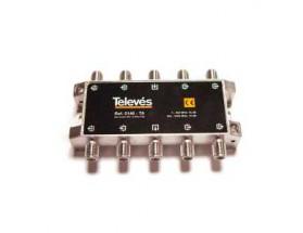 Derivador 8 direc. 18dB tipo TA conectores F