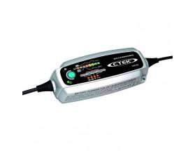 56-308 Cargador de batería MXS 5.0 TEST & CHARGE 12V-5A. Combina un cargador de baterías controlado por microprocesador con una función de comprobación de la batería y el alternador, la solución definitiva para probar, cargar y mantener las baterías