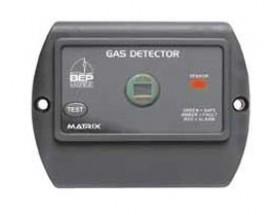 600-GDRV Detector de gas Contour Matrix, con señalización luminosa y  botón de servicio. Vista frontal