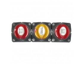 715-H Sistema de 3 desconectadores 701 en formato horizontal. Vista frontal