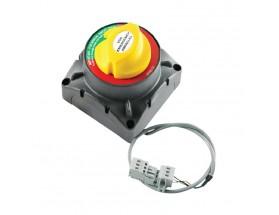 720-MDVSO Conmutador de baterías 720-MDVSO, 500A, 12/24V, detecta automáticamente el voltaje y proporciona una carga óptima y eficiente de un segundo banco de baterías independiente. Vista frontal