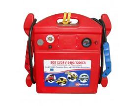760008 Arrancador baterías SOS 12/24V 2400/1200. Perfecto para arrancar motores de hasta 1500 CV
