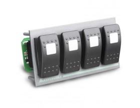 77031400 Módulo de interruptores Switch Input 4. Puede conmutar cualquier función en la red MasterBus y está diseñado para el panel S-3-F4 MasterVision.