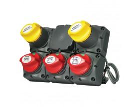 Sistema de distribución - 2 motores fuera, 3 baterías, VSR