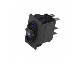 80-911-0071-00 - Interruptor Carling Custom, mom ON/OFF/mom ON, LED azul
