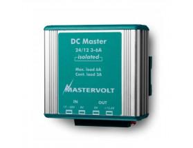 81500600 Convertidor DC Master 12/12-3A - Aislado on ranura ancha de entrada y  salida estabilizada. Versión aislada de fácil instalación y revestida con una  carcasa de  aluminio anodizado