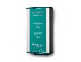 81400330 nvertidor DC Master 24/12-24A. Mediante el uso de este convertidor, podrá asegurarse de que todos sus equipos de a bordo disponen de un suministro de energía estable y además con el voltaje correcto. Vista en perspectiva lateral del frontal