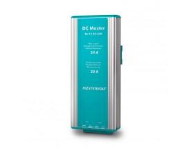 81400800 Convertidor DC Master 48/12-20A. Mediante el uso de este convertidor, podrá asegurarse de que todos sus equipos de a bordo disponen de un suministro de energía estable y además con el voltaje correcto. Vista en perspectiva lateral del frontal